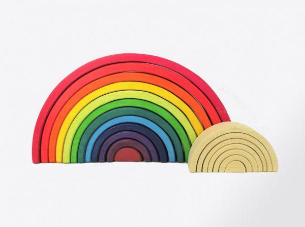 arcoiris grande VIVOS de madera hecho artesanalmente por Littlevikingtoy
