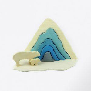puzzle-Arktis, juguetes de madera artesanal de Little viking toy