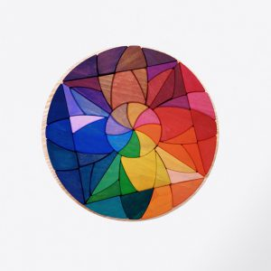 Mandala flor de loto de madera, juguete artesanal de Littlevikingtoy